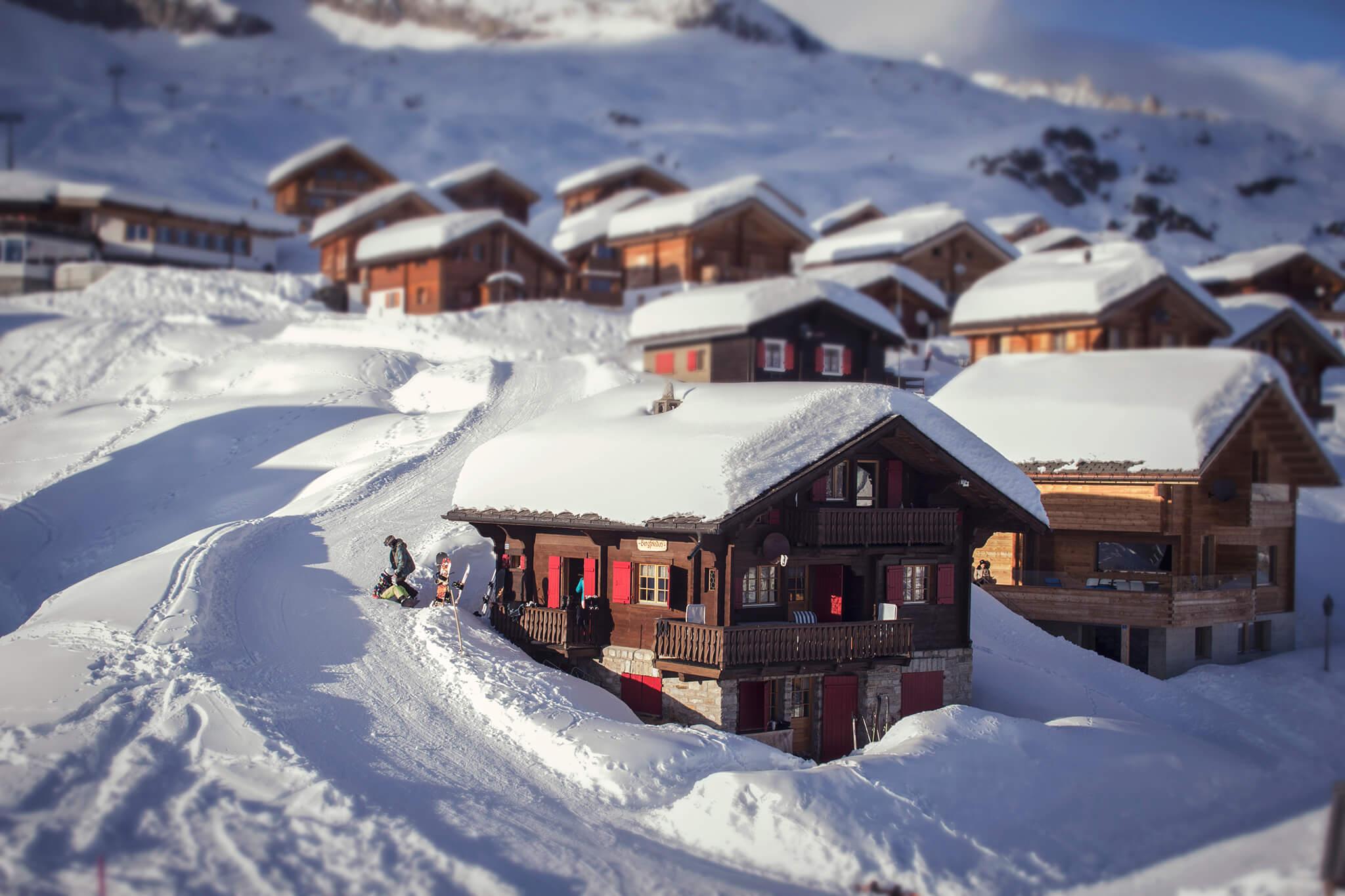 Vakantiehuis in zwitserland chalet van particulier for Design appartement zwitserland