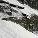 Uitgang tunnel Hohstock piste Belalp